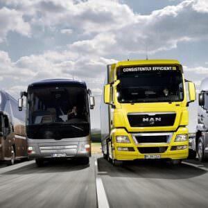 Для вантажних автомобілів та автобусів