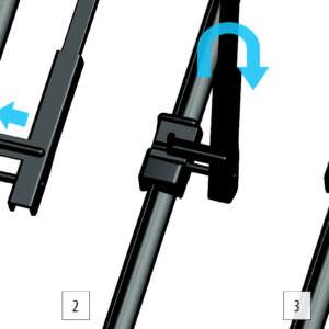 Щітки Модельні зі спеціальними кріпленнями (Push button 19 mm). Комплект 2 шт.