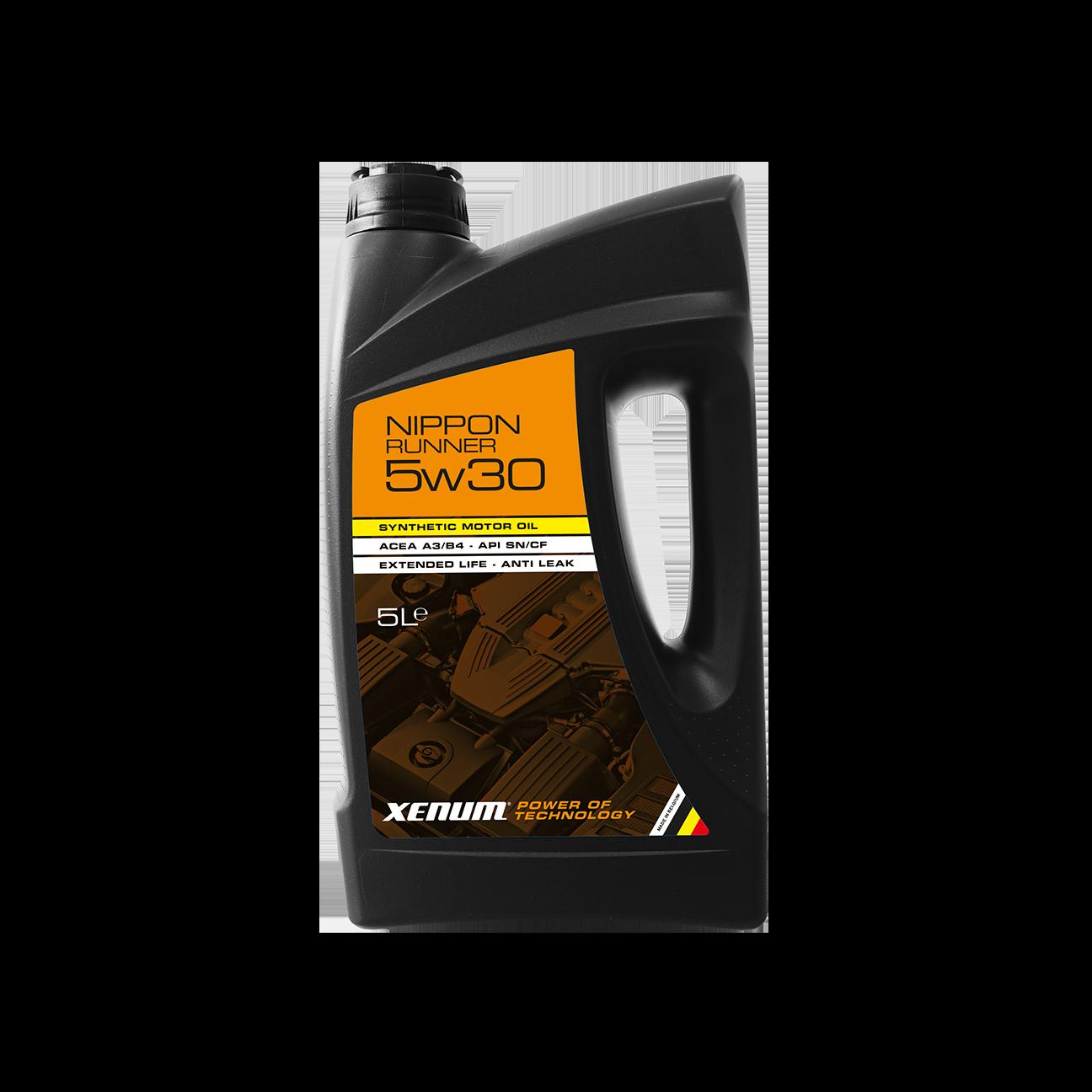 Моторна олива для бензинових двигунів з великим пробігом XENUM NIPPON Runner 5W30