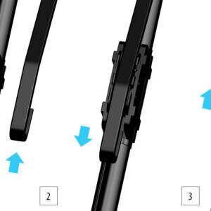 WU Щітки склоочисника безкаркасні (Кріплення: U – type (Hook) 12 мм)