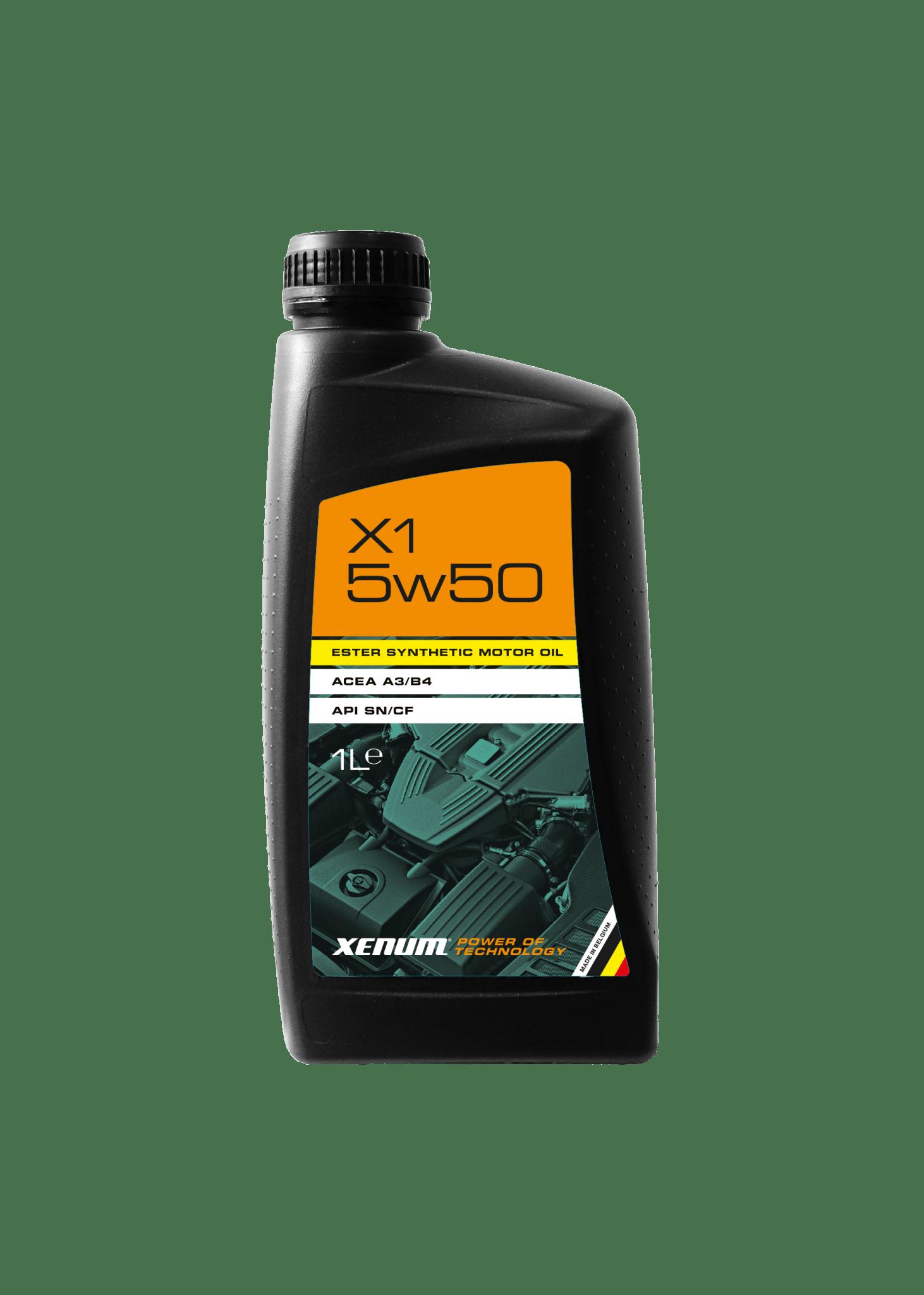 Моторна олива з естерами XENUM X1 5W50 Ester Hybrid
